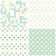 retro zestaw papierów scrapbook geometryczne kwadraty i kropki