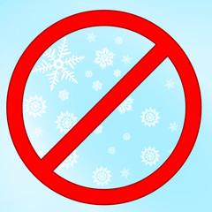 zakaz śniegu