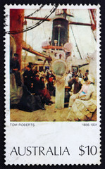 Postage stamp Australia 1977 Coming South (Immigrants)