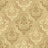 Fototapety Damask seamless floral pattern