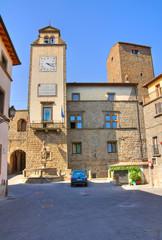 Town Hall Building. Vitorchiano. Lazio. Italy.