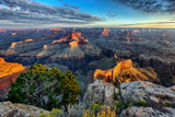 horizontal view of Grand Canyon