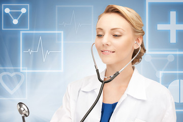 attractive female doctor with stethoscope