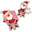 Santa Claus mascot the event activity. Christmas Character Desig