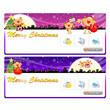 Santa Claus Mascot using a variety of banner designs. Christmas