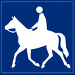 Schild blau - Reiter