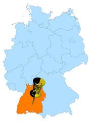 Karte Deutschland - Baden-Württemberg