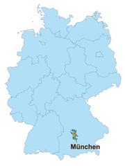 Deutschlandkarte München