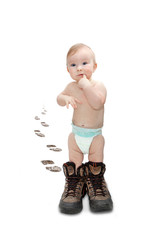baby with boots