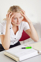 gestresste Studentin