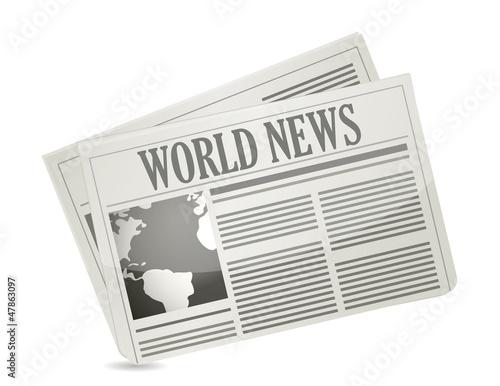 Global news concept