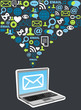 Email marketing campaign icon splash