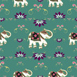 Festive typical indian elephant pattern