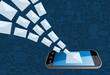 Phone email marketing icon splash