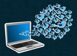 Twitter birds splash computer application
