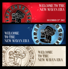 Welcome new Mayan era banner