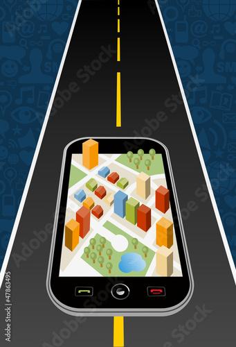 GPS city map