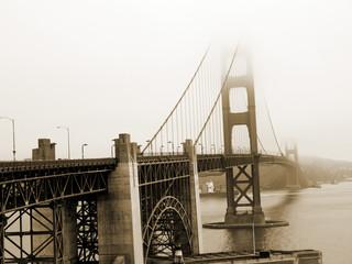 Golden Gate Bridge in Sea Mist in San Francisco California USA