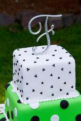 F Wedding Cake Topper