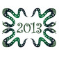 Snake New Year 2013. Chinese zodiac symbol.