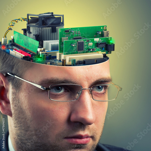 Businessman - computer