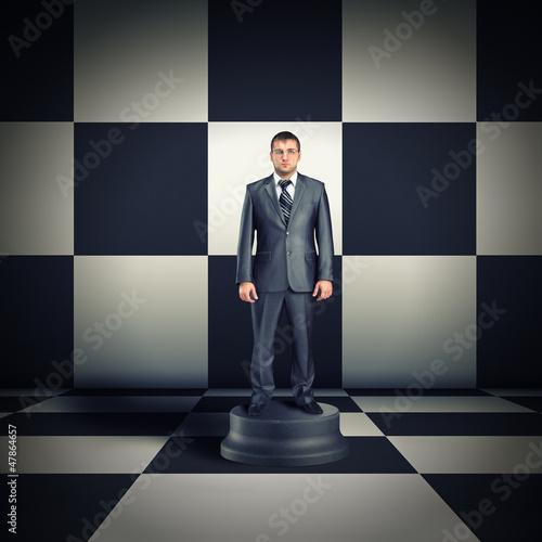 Figurine of businessman