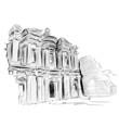 Vector World famous landmark collection : Petra, Jordan