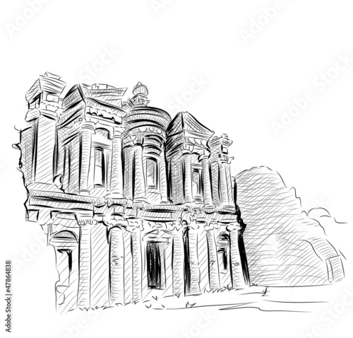 Vector World famous landmark collection : Petra, Jordan