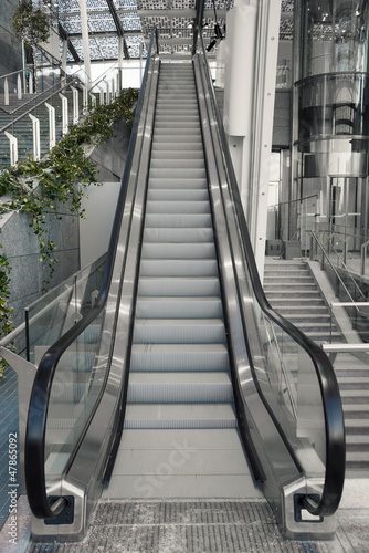 Wall mural Escalator