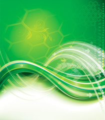 Abstract background of green technology.