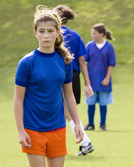 Stock Photo of a Female Soccer Player