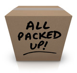 All Packed Up Cardboard Box Moving Relocation poster