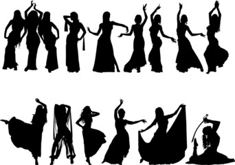 Belly dancing silhouette collection