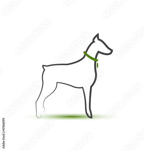 Dog silhouette stylized logo vector