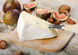 Cheese  on wooden platter