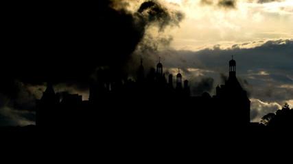 France Chateau de Chambord de Loire Valley sky summoning