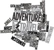 Word cloud for Adventure travel