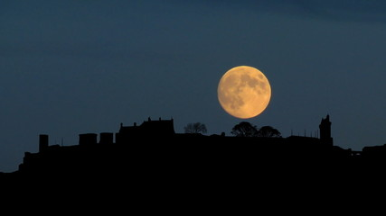 France Chinon moonrise
