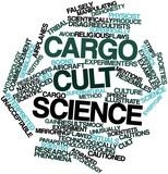 Word cloud for Cargo cult science poster