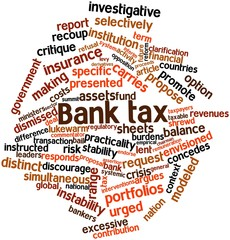 Word cloud for Bank tax