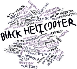 Word cloud for Black helicopter