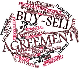 Word cloud for Buy-sell agreement
