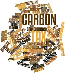 Word cloud for Carbon tax