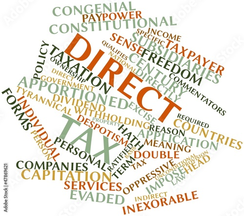 Word cloud for Direct tax