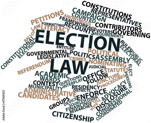 Word cloud for Election law