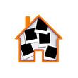 Vector polaroid house collection