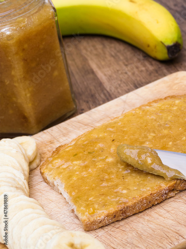 Banana Jam on Bread