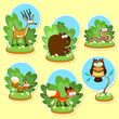 Funny wood animals.