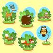 Funny wood animals.