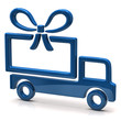 Big gift concept. Truck and gift.